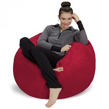 Ghế lười trụ tròn vải da lộn
