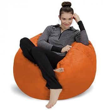 Ghế lười trụ tròn vải thô kaki