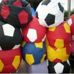 Ghế lười quả bóng vải kaki