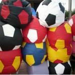 Ghế lười quả bóng vải nhung Hàn Quốc